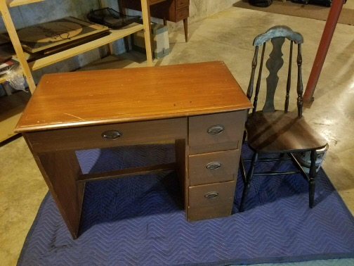 vintage kids' set of desk and chair