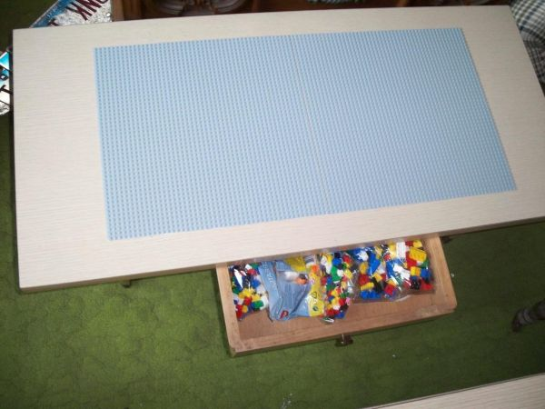lego table set repainted