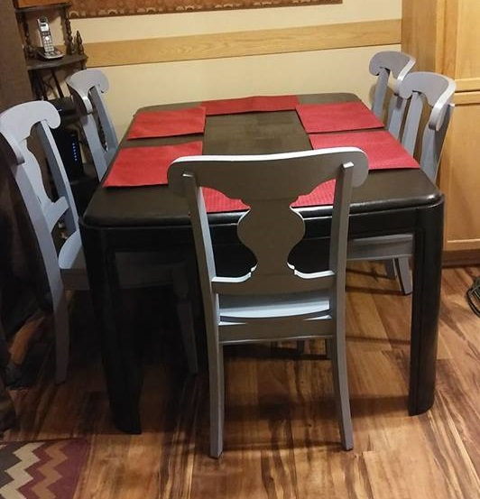 repainted dining set from Restore