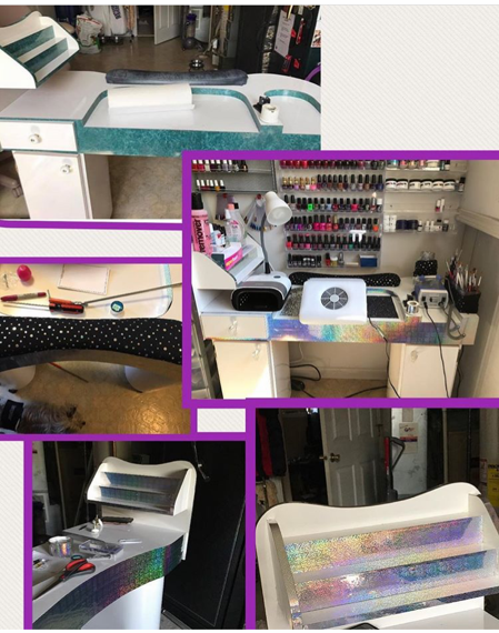 before and after photos of hair salon furniture