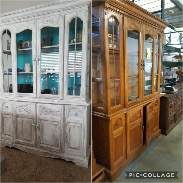 painted china cabinet from Restore Bloomington-Normal