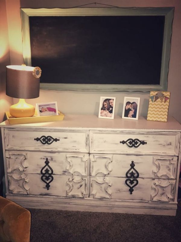 decorative dresser and mirror from Bloomington Restore