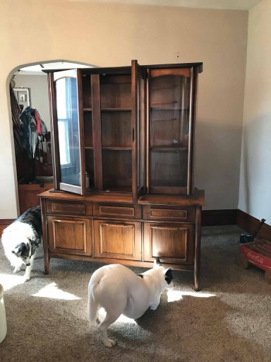 refinished hutch cabinet from Restore