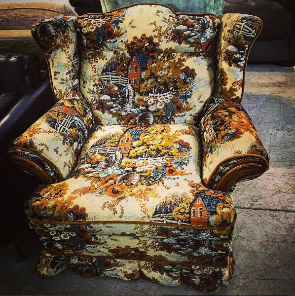 Shop vintage and lightly used chairs, couches and recliners.
