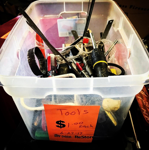 find tools at our thrift store